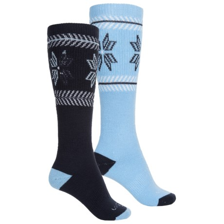 Lorpen Merino Wool Ski Socks - 2-Pack, Over the Calf (For Men and Women)