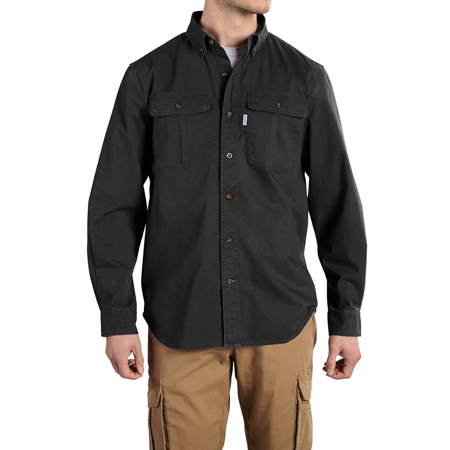 Carhartt foreman solid work shirt for big and tall men 110hc Carhartt work shirts tall