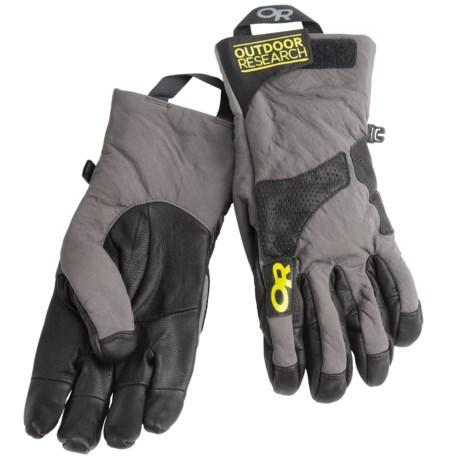 Outdoor Research Lodestar Polartec® Power Shield® Gloves (For Men)