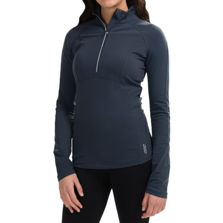 Lorna Jane Cresent Excel Pullover Shirt - Zip Neck, Long Sleeve (For Women)