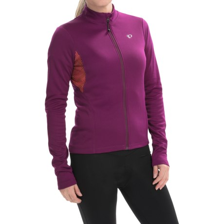 Pearl Izumi SELECT Sugar Print Thermal Cycling Jersey - Full Zip, Long Sleeve (For Women)
