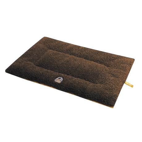 "OllyDog Berber Fleece-Microsuede Dog Bed - 17x24x2"", Small"