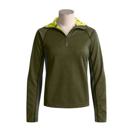 Mammut Outline Pullover Hooded Sweater - Fleece, Zip Neck (For Women)