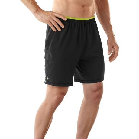 SmartWool PhD Long Run Shorts - Merino Wool, Built-In Brief (For Men)