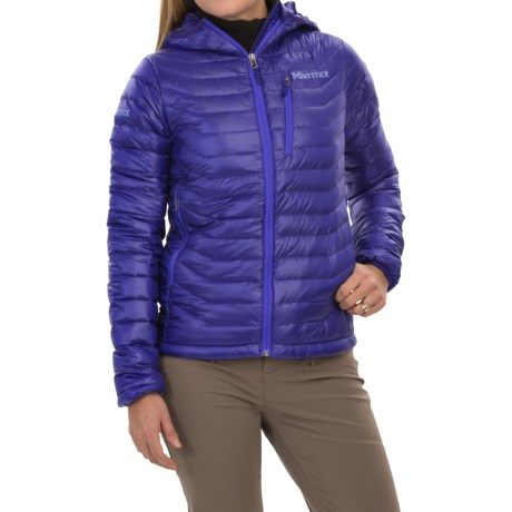 Marmot Quasar Down Hooded Jacket - 850 Fill Power (For Women)