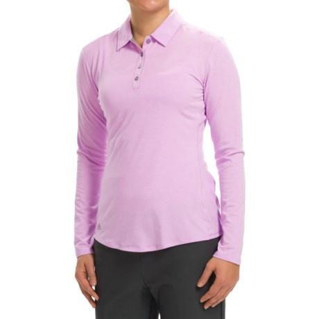 adidas golf Essentials Heather Polo Shirt - Long Sleeve (For Women)