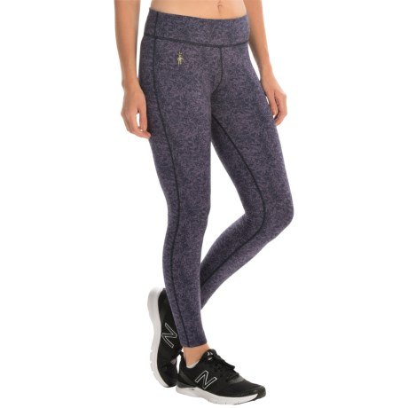 SmartWool PhD Printed Mid-Rise Tights - Merino Wool Blend (For Women)