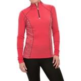 SmartWool PhD Light Printed Shirt - Merino Wool, Zip Neck, Long Sleeve (For Women)