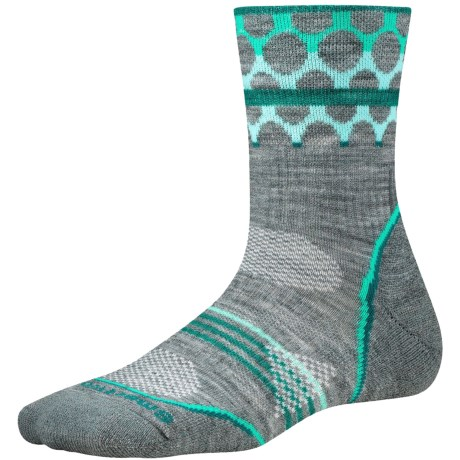 SmartWool PhD Outdoor Pattern Socks - Merino Wool, Quarter Crew (For Women)