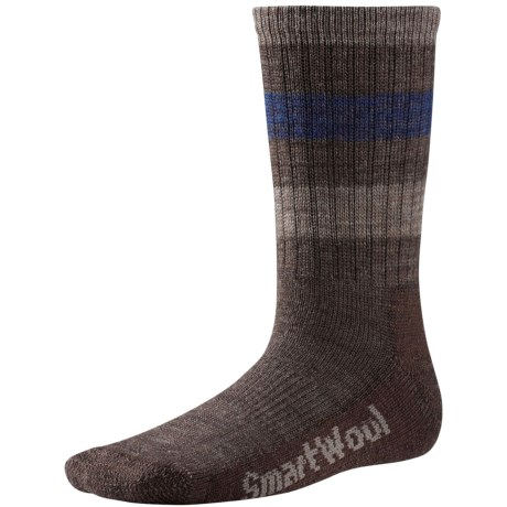 SmartWool Striped Hiking Socks - Merino Wool, Crew (For Little and Big Kids)