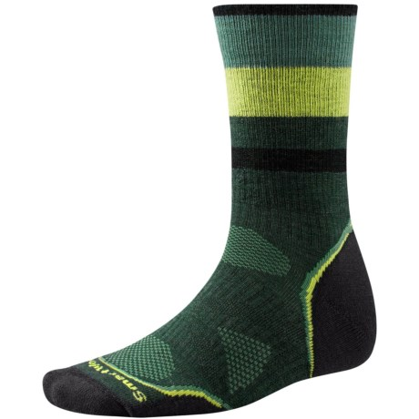 SmartWool PhD Outdoor Pattern Socks - Merino Wool, Crew (For Men and Women)