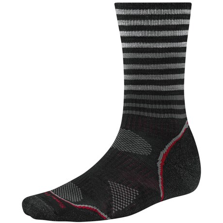 SmartWool PhD V2 Outdoor Pattern Socks - Merino Wool, Crew (For Men and Women)