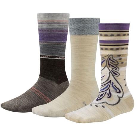 SmartWool Trio 1 Socks - 3-Pack, Merino Wool, Crew (For Women)