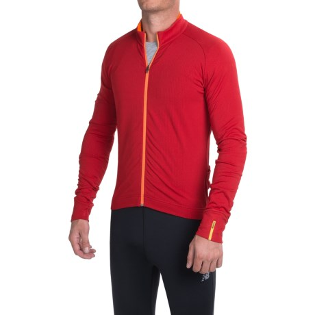 Mavic Aksium Thermo Cycling Jersey - Full Zip, Long Sleeve (For Men)