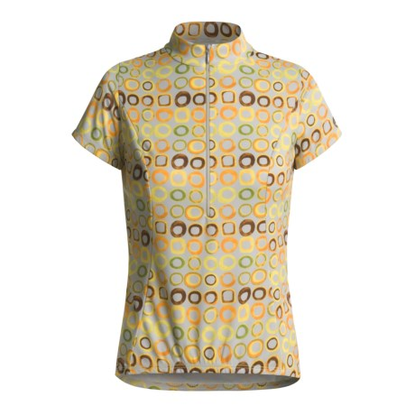 Shebeest Bellissima Solid Cycling Jersey - UPF50+, Short Sleeve (For Plus Size Women)