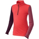 SmartWool Mid 250 Pattern Base Layer Top - Merino Wool, Zip Neck, Long Sleeve (For Little and Big Kids)