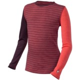 SmartWool Mid 250 Pattern Base Layer Top - Merino Wool, Crew Neck, Long Sleeve (For Little and Big Kids)