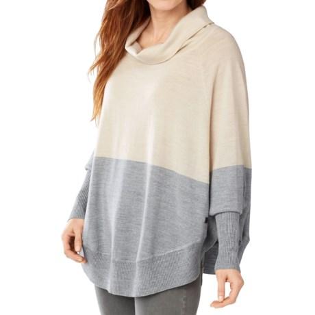SmartWool Nokoni Color-Block Poncho - Merino Wool, Dolman Sleeve (For Women)