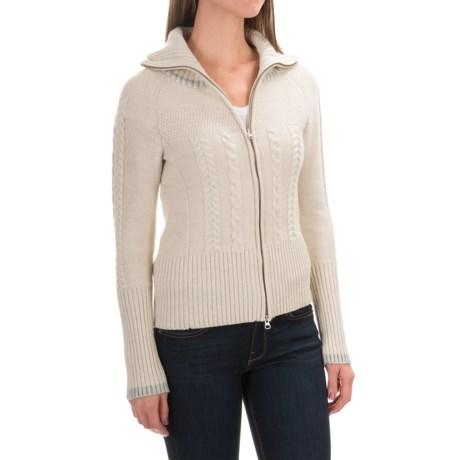SmartWool Metallic Ski Town Sweater - Merino Wool, Zip Front (For Women)