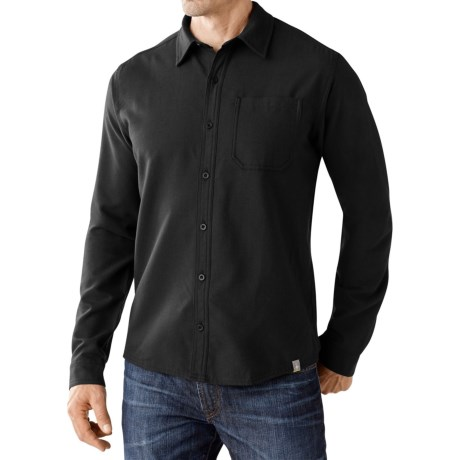 SmartWool Akalii Solid Flannel Shirt - Merino Wool, Long Sleeve (For Men)