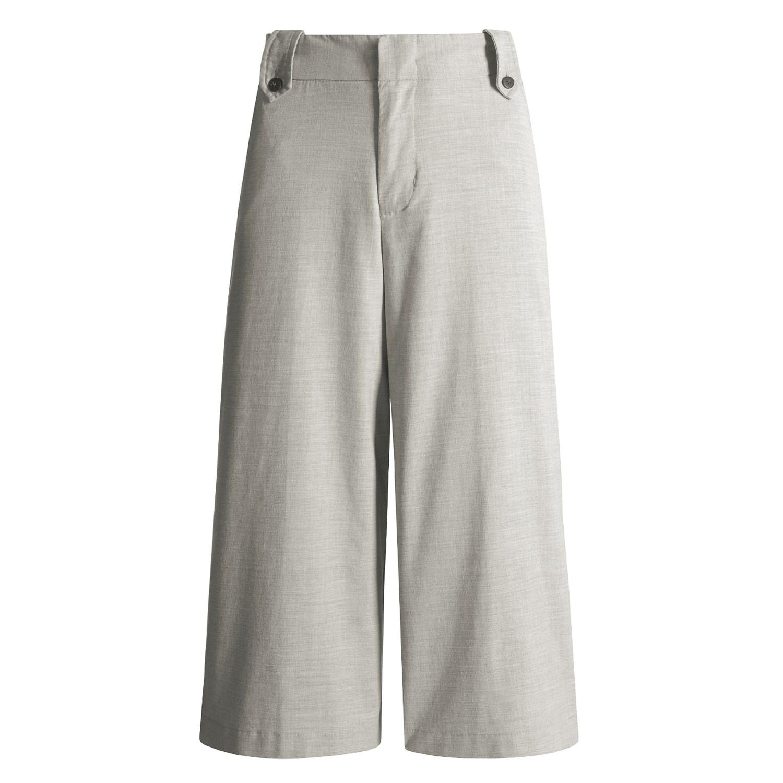 cotton gaucho capri pants - Pi Pants