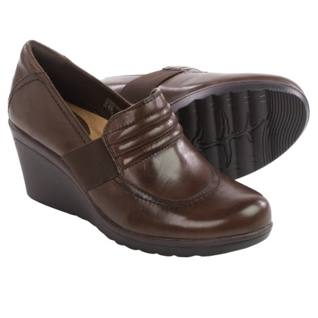 Earth Starling Leather Wedge Shoes (For Women)