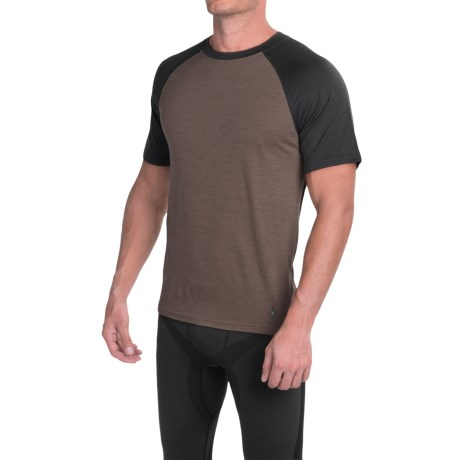 SmartWool NTS Micro 150 Base Layer Top - Merino Wool, Crew Neck, Short Sleeve (For Men)