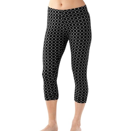 SmartWool NTS 250 Pattern Cropped Base Layer Bottoms - Merino Wool (For Women)