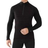 SmartWool NTS 250 Print Midweight Base Layer Top - Merino Wool, Zip Neck, Long Sleeve (For Men)
