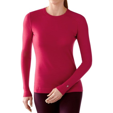 SmartWool NTS 250 Base Layer Top - Merino Wool, Crew Neck, Long Sleeve (For Women) in Persian Red Heather - Closeouts
