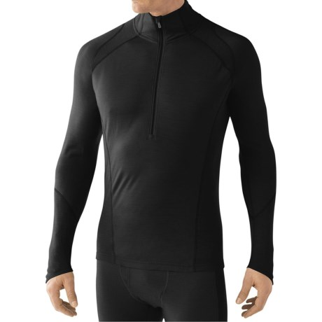 SmartWool Zip T Light 195 Base Layer Top - Merino Wool, Zip Neck, Long Sleeve (For Men)