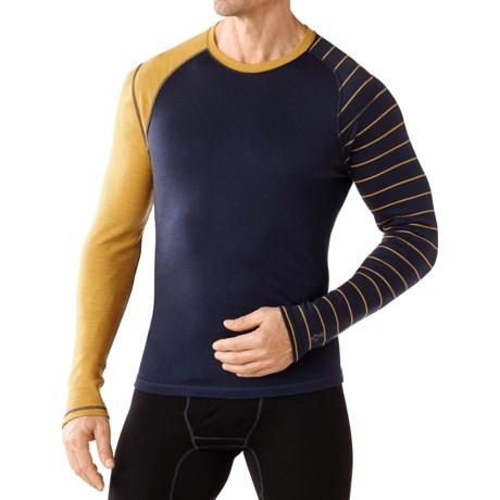 SmartWool NTS Mid 250 Asymmetric Shirt - Merino Wool, Crew Neck, Long Sleeve (For Men)