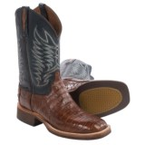 Lucchese Caiman Belly Tail Cowboy Boots - W-Toe (For Men)