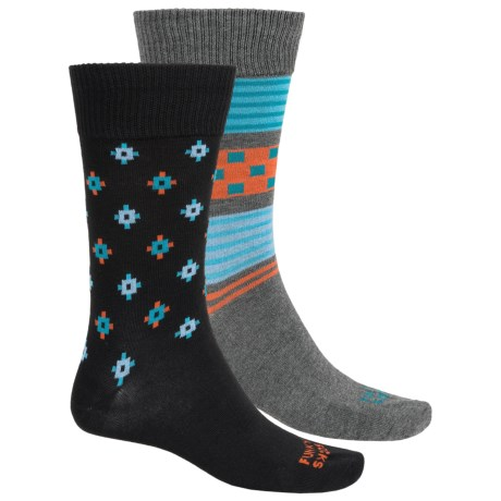 Funky Socks Light Socks - 2-Pack, Crew (For Men)