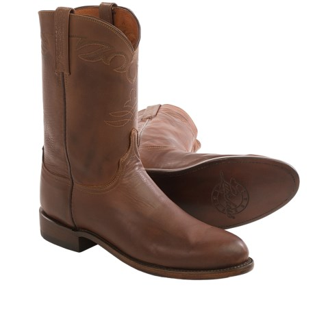 Lucchese Jersey Calfskin Cowboy Boots - Leather (For Men)