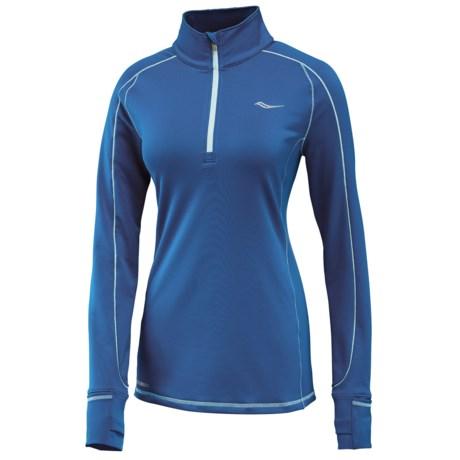 Saucony Omni Shirt - Zip Neck, Long Sleeve (For Women)