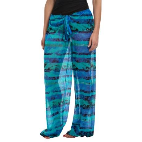 Longitude Mesh Tie-Front Pants (For Women)