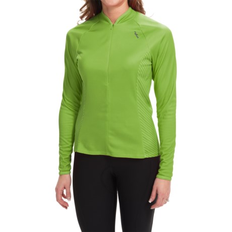 Shebeest Bellissima Solid Cycling Jersey - UPF 45+, Long Sleeve (For Women)