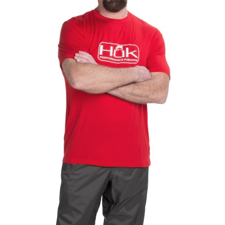 Huk Bass Logo T-Shirt - Short Sleeve (For Men)