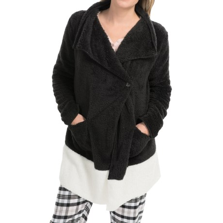 PJ Salvage Cozy Short Robe - Long Sleeve (For Women)