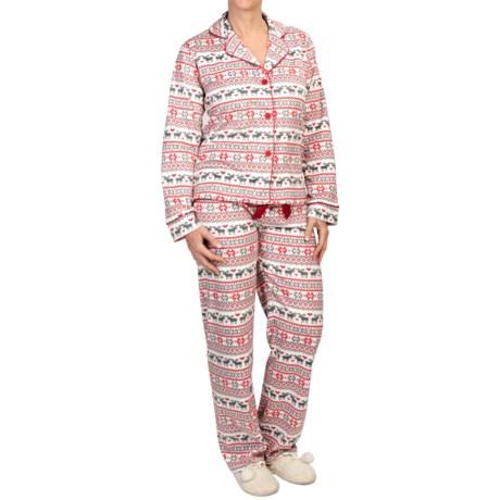 PJ Salvage Plush Polar Fleece Pajamas - Long Sleeve (For Women)
