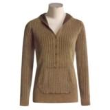 Pulp Pointelle Hooded Sweatshirt (For Women)