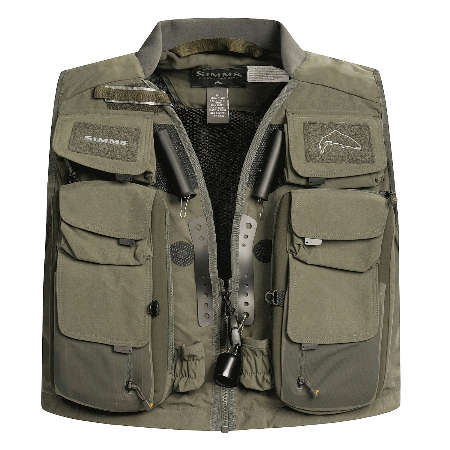 simms vertical master fly fishing vest for men 1155d