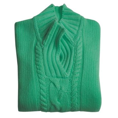 Johnstons of Elgin Cashmere Sweater - Johnny Collar (For Women)