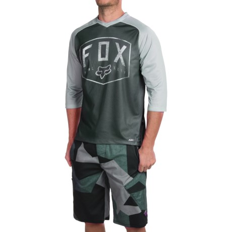 Fox Racing Flow Cycling Jersey - 3/4 Sleeve (For Men)