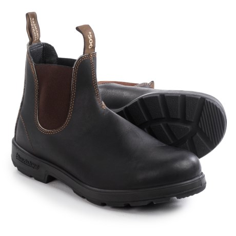 Blundstone 500 Pull-On Boots - Leather, Factory 2nds (For Men and Women)