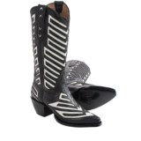 Justin Boots Cutout Cowboy Boots - Leather, Snip Toe (For Women)