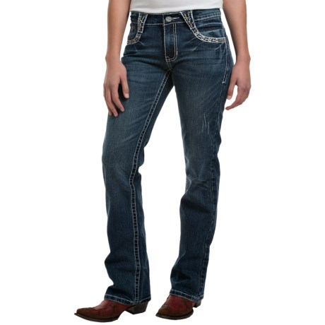 Petrol Delphine Jeans - Mid-Rise, Bootcut (For Women)