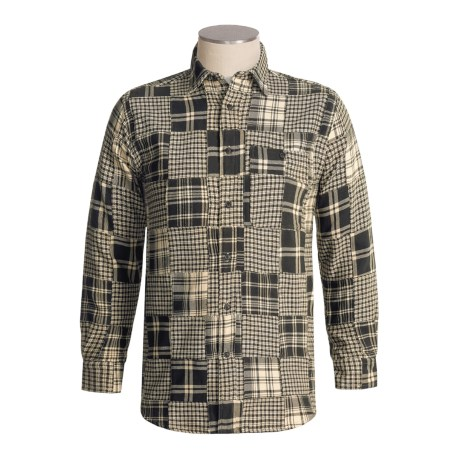 Orvis Midnight Plaid Patched Shirt - Long Sleeve (For Men)