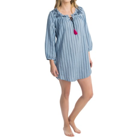 Lucky Brand Cozy Cotton Lawn Sleep Shirt - 3/4 Sleeve (For Women)